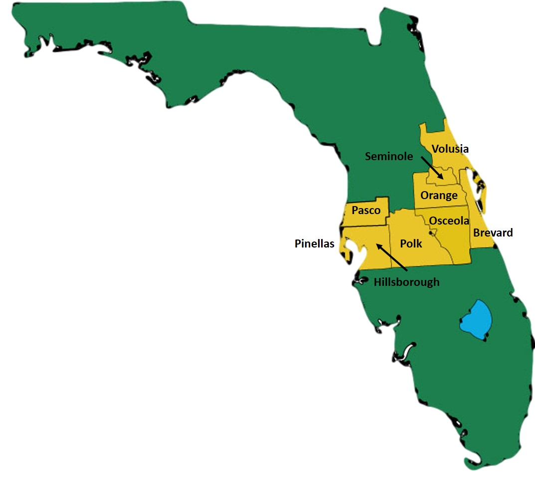Central Florida HIDTA Initiative Map